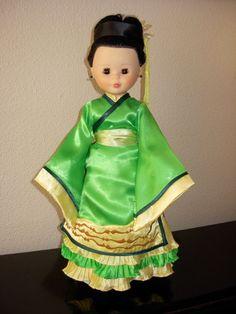 NANCY CHINA Pram Toys, Nancy Doll, Wellie Wishers, Fashion Dolls, Kimono, China, American Girls, Dresses, Baby