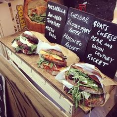 Camden Market | 21 Charming Markets Every Londoner Must Visit.......Now that's a sandwich!