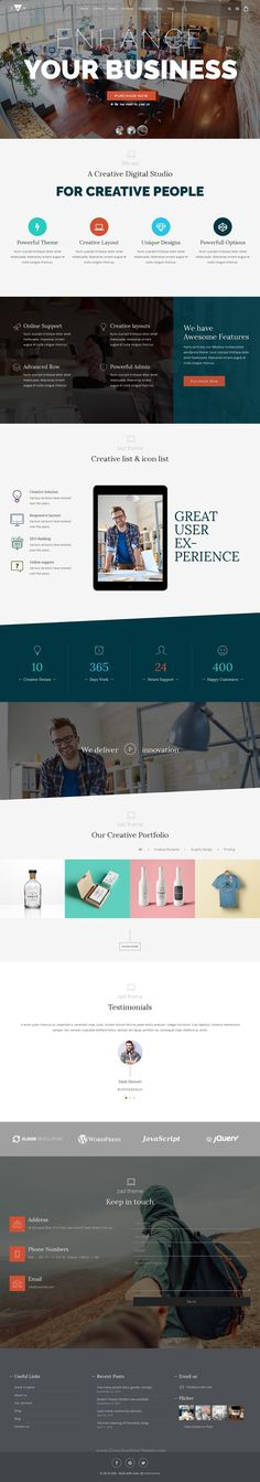 Zad is a creative, unique multiuse WordPress #theme with 15 different Layouts that give you the power to create a stunning #website. #agency Download Now!