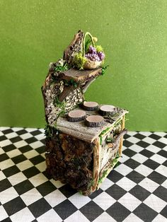 Miniature fairy stove fairy furniture fairy dollhouse
