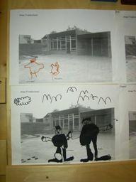 jufjanneke.nl - We gaan naar school Maak een foto van het schoolplein. Daarna mogen ze zichzelf en hun vriendjes op het schoolplein tekenen met stiften.
