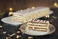 Esterházy Schnitte – ungarische Spezialität ohne Mehl Esterhazy Torte, Tiramisu, Sweets, Desserts, Ethnic Recipes, Food, Holidays, Sweet Recipes, Sliced Almonds