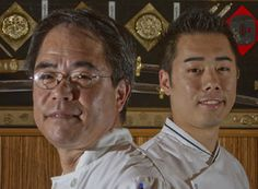 Matt Ito and his son Jesse, owners and chefs at Fuji Japanese, Haddonfield. (David M Warren / Staff Photographer)