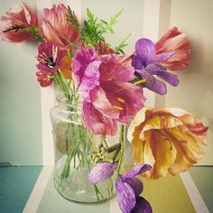 parrot tulips by The Paper Heart of Vihra Rowe (@thepaperheartdesign) on Instagram