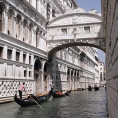 Gondolas Passing Over Bridge Of Sighs - Ponte Dei Sospiri. A.. Royalty Free Stock Photo, Pictures, Images And Stock Photography. Image 14443276.