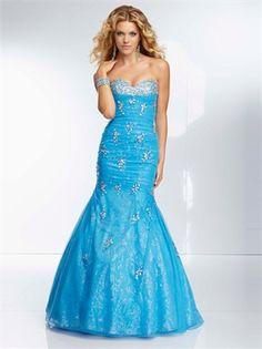 Blue Mermaid Sweetheart Beadings Sequins Prom Dress PD11450 www.dresseshouse.co.uk $179.0000