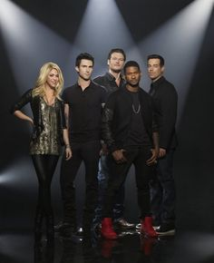 The Voice , 2013  .. this years judges...Shakira, Usher, Blake Shelton and Adam Levine .... watched the first show this season...just awesome!
