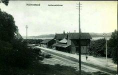 Vestfold fylke HOLMESTRAND Jernbanestation Utg A.Schrøder, brukt 1914