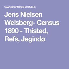 Jens Nielsen Weisberg- Census 1890 - Thisted, Refs, Jegindø