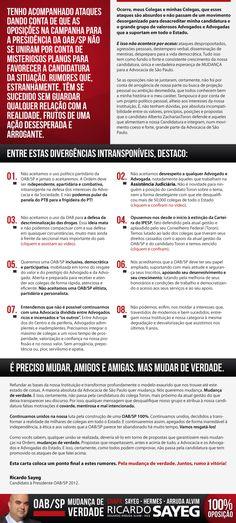 #oabsp #oab #advogado #advogada #votoricardosayeg #ricardosayeg    http://www.ricardosayeg.com.br/news/211112-10/