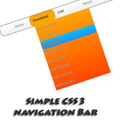 Simple CSS3 navigation menu with drop down effect for blogger