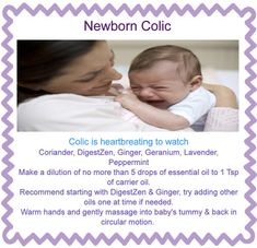 Colic baby oil blend