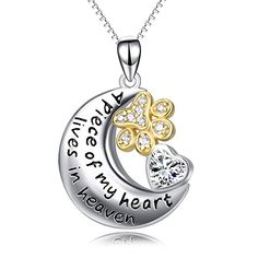 "Sterling Silver Paw Print Moon Heart Necklace ""A Piece of... https://www.amazon.com/dp/B0746FGYZT/ref=cm_sw_r_pi_dp_x_J9cHzbSBM67D9"