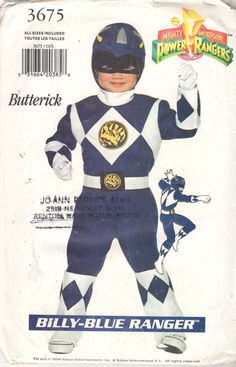 Butterick 3675 Billy Blue POWER RANGER Costume Pattern by mbchills