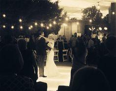 Lauren & Jay - Bride & Groom dance...D'Plazzo loved this romantic look, with the lighted dance floor. Lighting and Dance floor - JAM Events