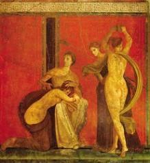 Pintura Romana. Descendiente y heredera de la griega, poseía una técnica depurada, (mejor que la posterior medieval)