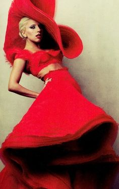 Lady Gaga in Alexandre Vauthier Haute Couture, Fall/Winter 2011 • Annie Leibovitz • Vanity Fair, January 2012