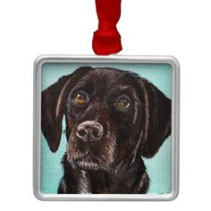 #Poppy Metal Ornament - #labrador #retriever #puppy #labradors #dog #dogs #pet #pets