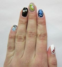 Hilarious Ten Plagues manicure - could also do as a pedicure for those of us without two steady hands