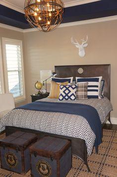 Boy's Room Navy Paint & Accents. blue nest design