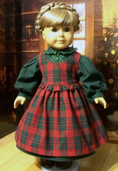 Empress' Secret Closet - We purchased this festive Pioneer Christmas Gown and Pinafore for Kirsten made by Keepersdollyduds, via Flickr