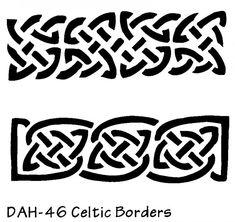 celtic stencil borders