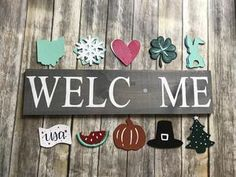 Kate s Colorful Crafts - - Interchangeable holiday signs! Kate s Colorful Crafts Interchangeable holiday signs! Kate s Colorful Crafts - Fall Crafts, Holiday Crafts, Diy Wood Signs, Wood Signs For Home, Pallet Signs, Holiday Signs, Christmas Signs, Color Crafts, Diy Crafts To Sell