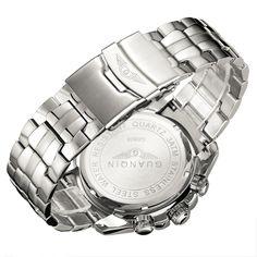 Original GUANQIN Men Quartz Watch Luminous Famous Brand Men Business Watch Waterproof Watches Clock Stainless Steel Wristwatches Do you want it  #shop #beauty #Woman's fashion #Products #Watch