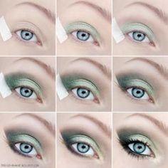 Tutorial maquiagem em tons de verde