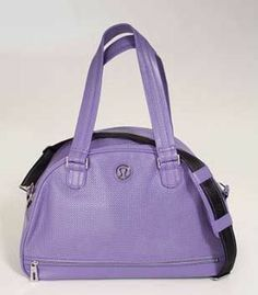 Shop my closet on @Jodie White Guirey. I'm selling my Lululemon Grove Bag in Grape seed. Only $73