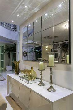 Photo in 5980 Furniture Design Mirror Decor Living Room, Dining Room Walls, Dining Room Design, Interior Design Living Room, Entrance Hall Decor, Entryway Decor, Luxury Interior, House Design, Home Decor