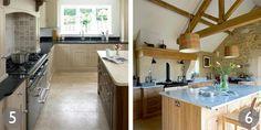 L-shaped kitchen by Rencraft; Neptune's Henley kitchen in light oak