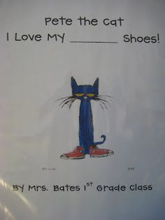 Pete the Cat Book printable.  Use for Language group in the K-2 room.