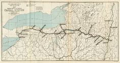 (Erie Canal)A big project - stretched 363 miles - Big Ditched - took 8 years to dig - Connect Hudson River-> Lake Erie= Atlantic Ocean and Great Lakes