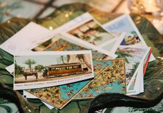 Vintage postcard collection guestbook // James Christianson Photographer