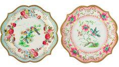 Tea party paper plates