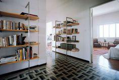 Contemporary wooden and metal wall shelf ALIANTE by R.Dordoni  Cappellini