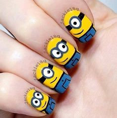 Despicable Me Minions Nails