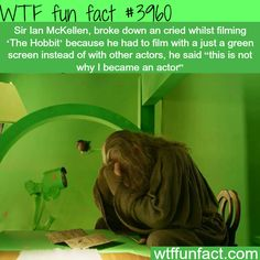 "Sir Ian McKellen cries during the filming of ""The Hobbit"" - WTF fun facts"