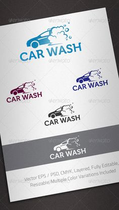 Car Wash Logo Template  #GraphicRiver         Simple, clean and modern logo template perfect for Car Wash Services.