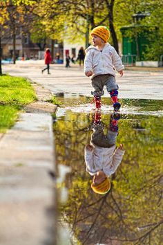 Puddle stomping is so much fun!