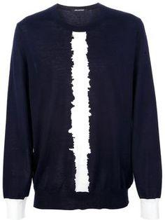 Neil Barrett intarsia stripe sweater