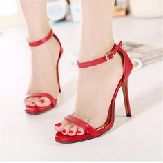 >> Click to Buy << 2016 Summer Fashion Women Sandals Open Toe Ankle Straps Sandals Red Bottom High Heels Suede Bridal Wedding Shoes Women Pumps #Affiliate