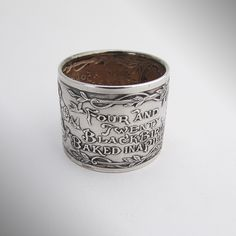 Nursery Rhyme Napkin Ring Sterling Silver Blackinton 1920