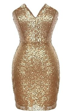 Endless Party Dress | Strapless Gold Sequin Party Dresses