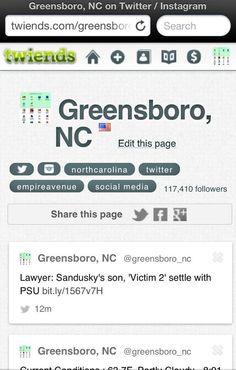 Greensboro, NC on Twitter / Instagram