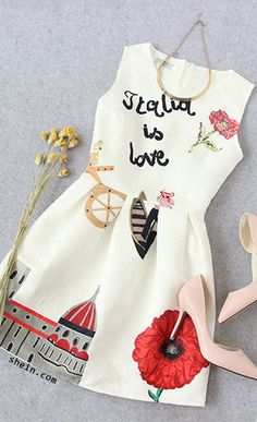 white fit and flare dress- party perfect.