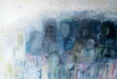 "Saatchi Art Artist Alli Hill; Painting, ""Lost in a crowd"" #art"