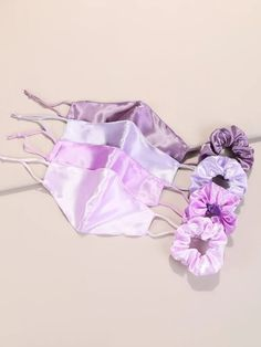 8pcs Plain Face Mask & Scrunchie | SHEIN USA