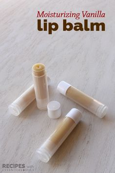 Moisturizing Vanilla Lip Balm from RecipeswithEssentialOils.com